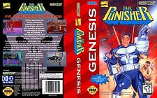The Punisher Sega Genesis NTSC Replacement Box Art Case Insert Cover Scan Repro.