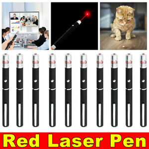 US Stock 900Miles 650nm Red Laser Pointer AAA Visible Beam Cat Pet Toy Laser Pen