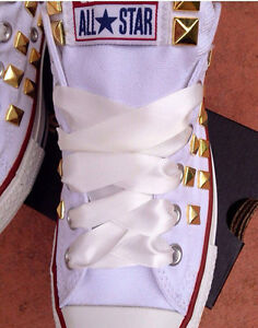 64e80fd62c39b3 Image is loading Satin-Ribbon-Shoelaces-for-Converse-Shoes-Wedding-White-