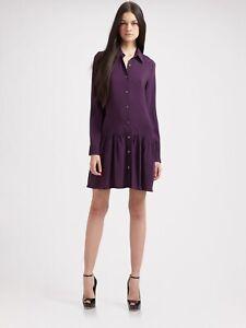 Theory-Women-s-Failly-Rove-Stretch-Ruffle-Dress-Long-Sleeve-Purple-Size-4