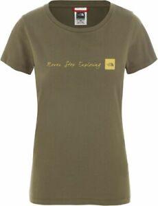 THE-NORTH-FACE-NSE-T0A6PR7D6-Coton-T-Shirt-Manches-Courtes-Femmes-Nouveau