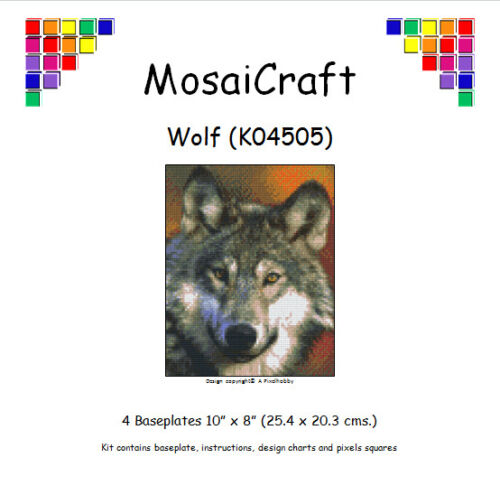 Kit De Arte Mosaico mosaicraft píxel Craft /'Wolf/' pixelhobby