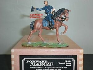 Ensemble de figurines soldat en métal monté avec monture Jackson Stonewall Jackson, mars Fm10001