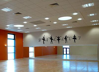 LARGE Ballet Ballerina 8.5 ft feet Studio Dancer Wall Art Room Sticker Dance