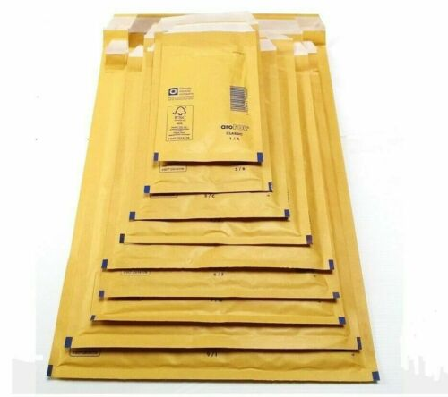GENUINE FEATHERPOST GOLD PADDED JIFFY BUBBLE ENVELOPES BAGS *ALL SIZES//QTY/'S* UK