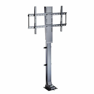 Motorized 32 50 flat tv lifting stand bracket w remote for Motorized vertical tv lift
