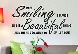Marilyn Monroe Keep Smiling Wall Art Quote Bedroom