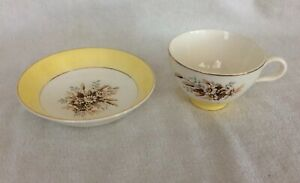 Vintage-Sunglow-Cup-and-saucer-Cunningham-amp-Pickett