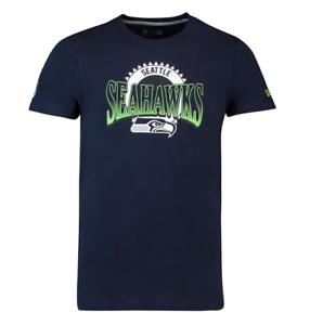 NEW-Era-NFL-Seattle-Seahawks-GRAPHIC-Uomo-Navy-Blue-Shirt-Fan-Pack-TEE-T-shirt