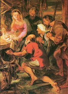 Alte Kunstpostkarte - Peter Paul Rubens - Die Anbetung der Hirten - Kornwestheim, Deutschland - Alte Kunstpostkarte - Peter Paul Rubens - Die Anbetung der Hirten - Kornwestheim, Deutschland