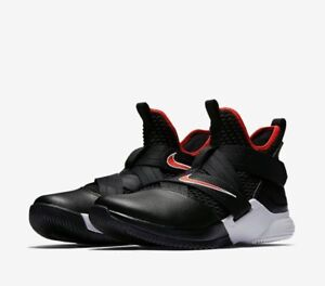 186c6753c74a Nike Men s LeBron Soldier 12 Basketball Shoes Bred AO2609 001 Size ...