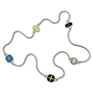 "ACME Studio ""Ikons"" Necklace by Designers Karim Rashid & Adrian Olabuenaga NEW"