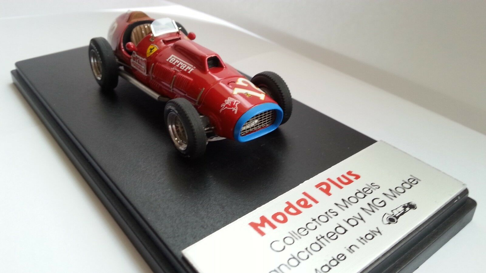 Ferrari MG modelo Plus 375 Indy Ascari 1952 Raro 1 43 fábrica de Resina modelo construido