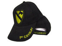 U.s. Army 1st Cavalry Division Embroidered Black 3d Baseball Cap Hat
