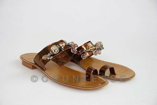 NEW NEW NEW MADE IN ITALY SHOES SANDALS FLATS THONGS K1 386646