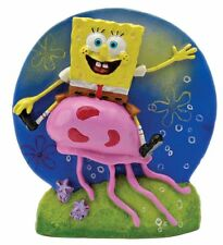 Spongebob Riding Jellyfish Aquarium Ornament - 3.75 in - SBR14 - Penn Plax
