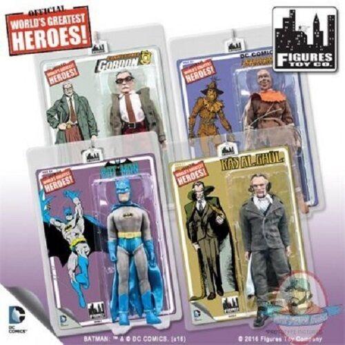 Batman Retro 8 Inch Action Figures Series 4 Set of 4 Figures Toy