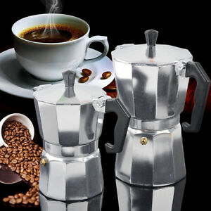 bialetti moka express aluminium espressokocher 3 6 tassen expresso latte coffee ebay. Black Bedroom Furniture Sets. Home Design Ideas