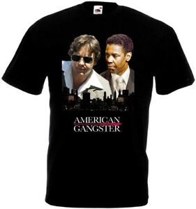 American Gangster v7 T-shirt black movie poster all sizes S...5XL