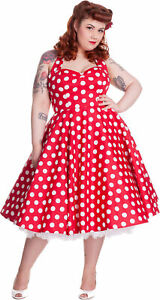 Hell Bunny MARIAM Polka Dots 50s Punkte SWING Vintage ...