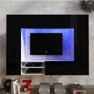 Astounding Details About Living Room Furniture Set Hanging Unit Floating Tv Cabinet Black Led Light Home Remodeling Inspirations Cosmcuboardxyz