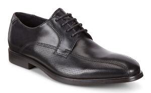 Details zu Men's ECCO Melbourne Tie Leather Shoes Black 621744 01001 Medium