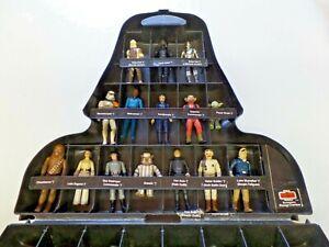 Vintage-Star-Wars-Lot-of-19-Figures-in-Darth-Vader-Case-Leia-Ewoks-Darth-Vader