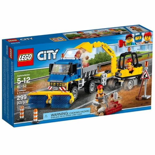 NEW Lego City 60152 Sweeper and Excavator