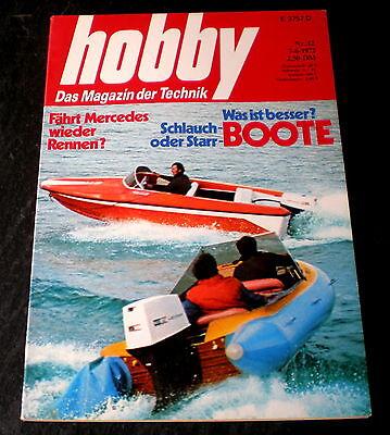 Hobby 12/72 Vgl-Test 2.Teil:Citroen 2 CV6,Renault 4,VW 1200,wieder Rennen für MB