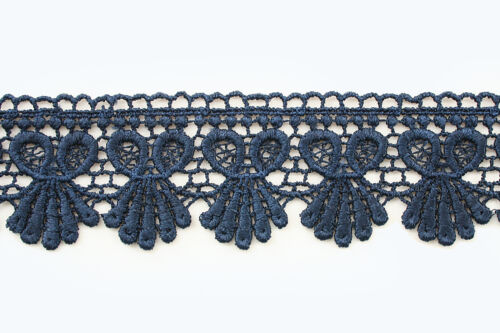 "1.75/"" Wide 20 Colors Red Green Lilac Black Navy Venice Lace Trim Guipure By Yard"