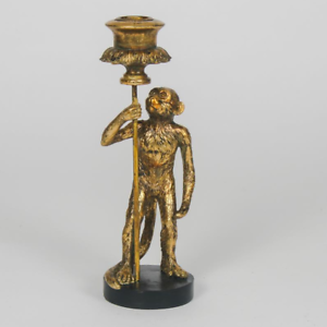 Retro-Gold-Monkey-Candlestick-Vintage-Style-Antique-Candle-Holder-Dinner-Table