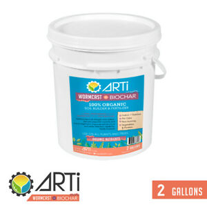 ARTi's Wormcast produced from sustainable biomass (ARTi Biochar) - 2 gal.