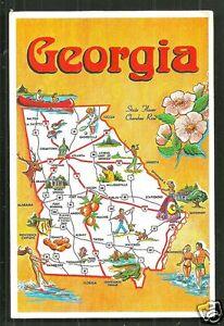 Details about Map postcard Georgia Empire State of the South GA USA on a political map of georgia usa, florida map usa, md map usa, california map usa, sc map usa, ia map usa, missouri map usa, savannah map usa, ct map usa, kentucky map usa, carolina's map usa, nc map usa, map of south georgia usa, michigan map usa, ks map usa, indiana map usa, state map usa, ohio map usa, alabama map usa, wi map usa,