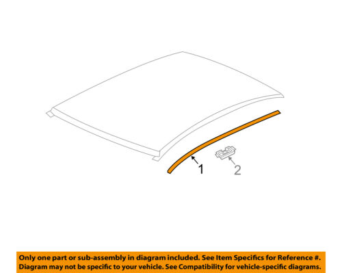 Chevrolet GM OEM 12-16 Sonic-Roof Molding Trim Left 96878541