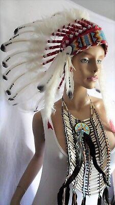 era bonnet Indian Headdress Coiffe indienne Kenai Little Big Horn Muelle campana