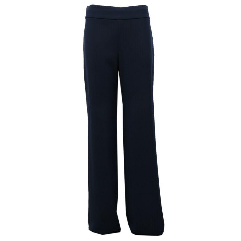 5076k Pantalone Donna Armani Collezioni Blue Trouser Woman