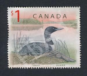 Used-CANADA-1-Loon-Scott-1687-1998-Dollar-Engraved-Bird-Animal