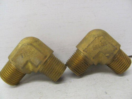 """OTHER Details about  /LOT OF 2 TYLOK MALE BRASS ELBOWS B-8-2MM-8 13//16/"""" X 13//16/"""" X 3//8/""""NPT NEW"""