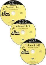 Real Book Playalong 6th Edition Vol 1 L-R Play Alto Sax Piano Guitar Music CDs