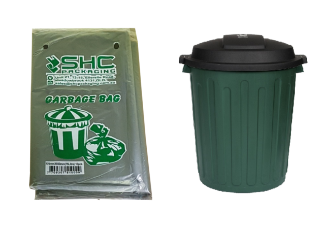 Black Garbage Bags Heavy Duty 75L (Suits 72-80L) - 40 Pieces - 770mm x 930mm