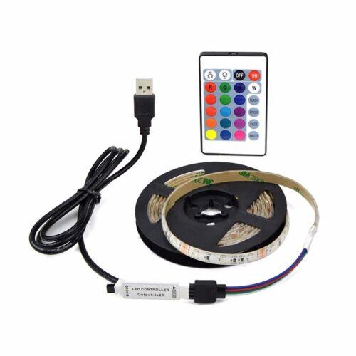 1M LED TV USB Backlight Kit Computer RGB LED Light Strip TV Background Lights US