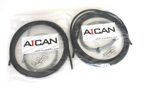 Black Aican Bike Shift Derailleur MTB Mountain cable housing set kit vs Jagwire