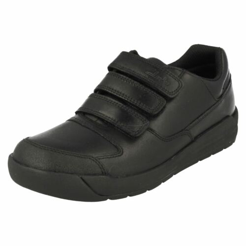 para Lite' escolar Calzado negro niños Clarks 'flare qvEnXT8a