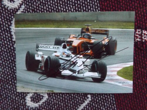"6"" x 4"" HAND SIGNED PHOTO OLIVIER PANIS BAR HONDA"