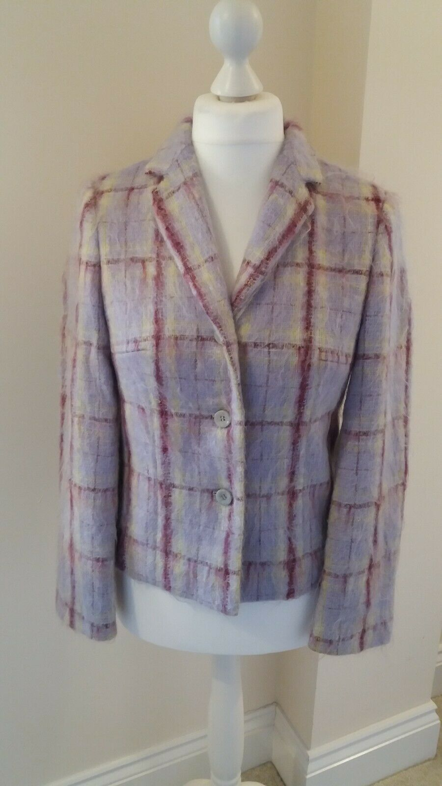 Betty Barclay Jacket Mauve mohair mix size 12