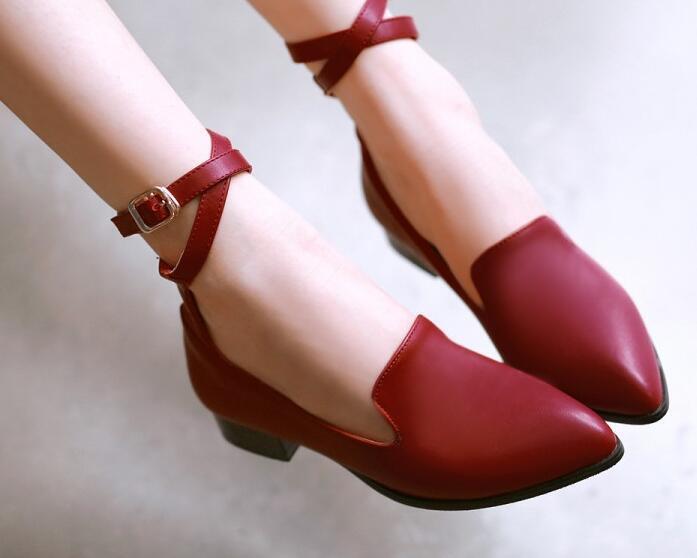 Bailarinas mocasines zapatos zapatos zapatos de mujer pan de la tierra rojo talón 2.5 cm cómodo  oferta especial
