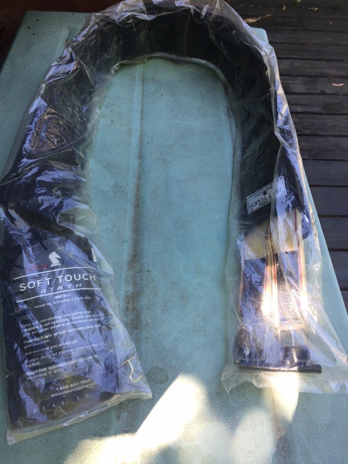 Classic  Equine Tacto Suave inglés circunferencia negro lacio 56 Nuevo con etiquetas y embalaje  precios mas baratos