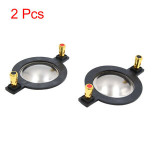 2pcs 44.4mm Sound Speaker Diaphragm Car Voice Coil Replacement w Copper Pillar