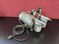 Gast Portable Rotary Vane Vacuum Pump Emerson G180dx Motor 115v Tested
