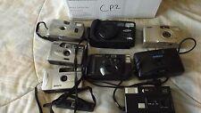 8 Vintage Film  Cameras for Parts Samsung Canon Solaris Vivitar Disc  CP2